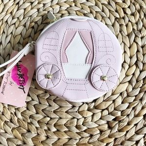 NWT Betsey Johnson Pink Carriage Purse Wristlet